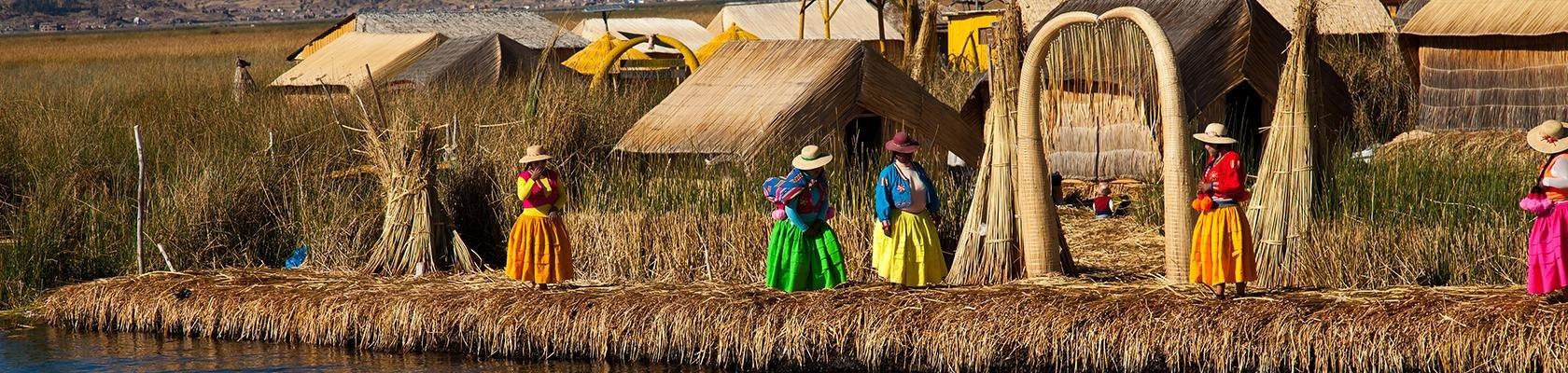 Uros-indianen bij het Titicacameer