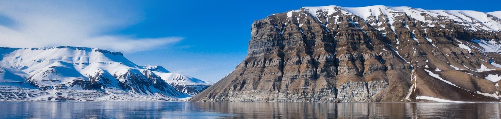 Indrukwekkend ijslandschap in Spitsbergen