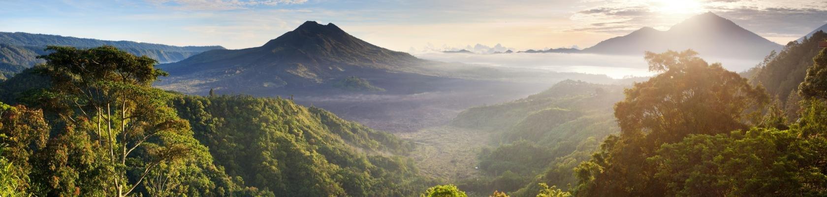 Groene en bergachtige binnenland van Bali