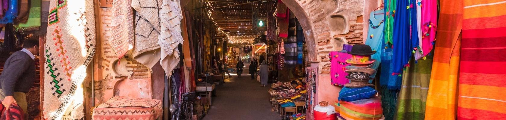 De kleurrijke souks van Marrakech