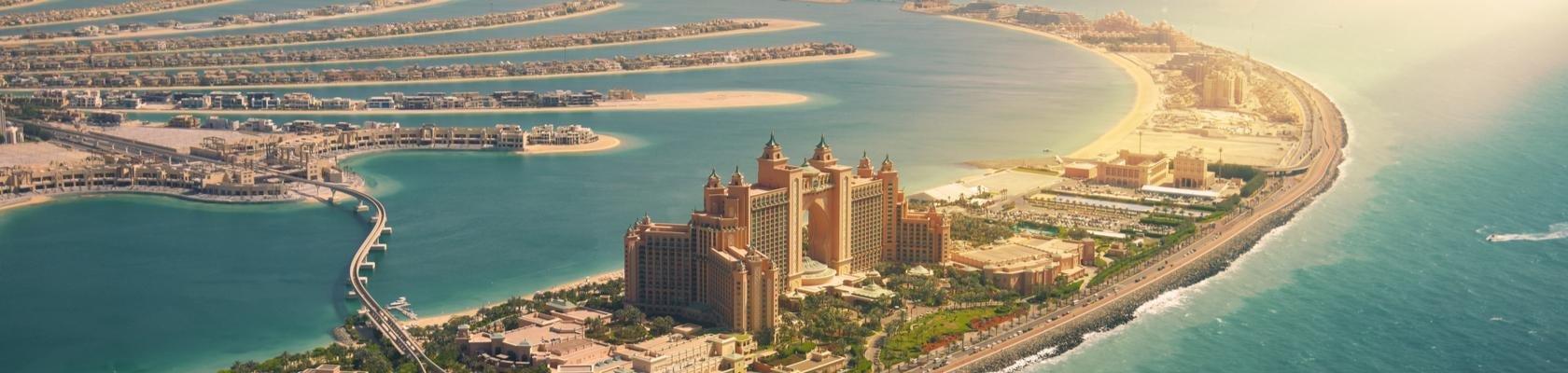 Palmeiland met Hotel Atlantis