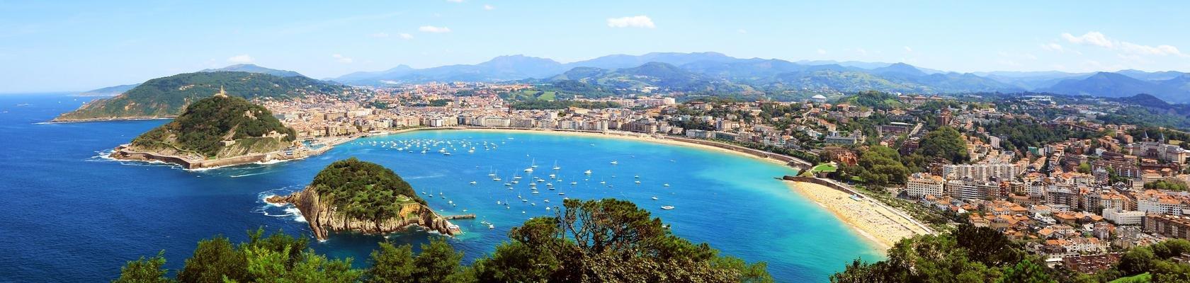 De baai van San Sebastián