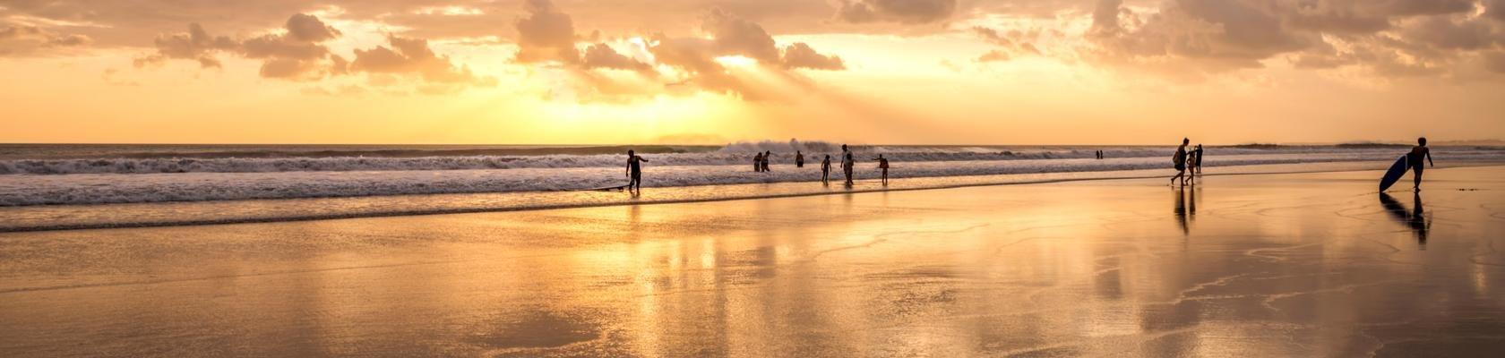 Zonsondergang aan de zuidkust van Bali
