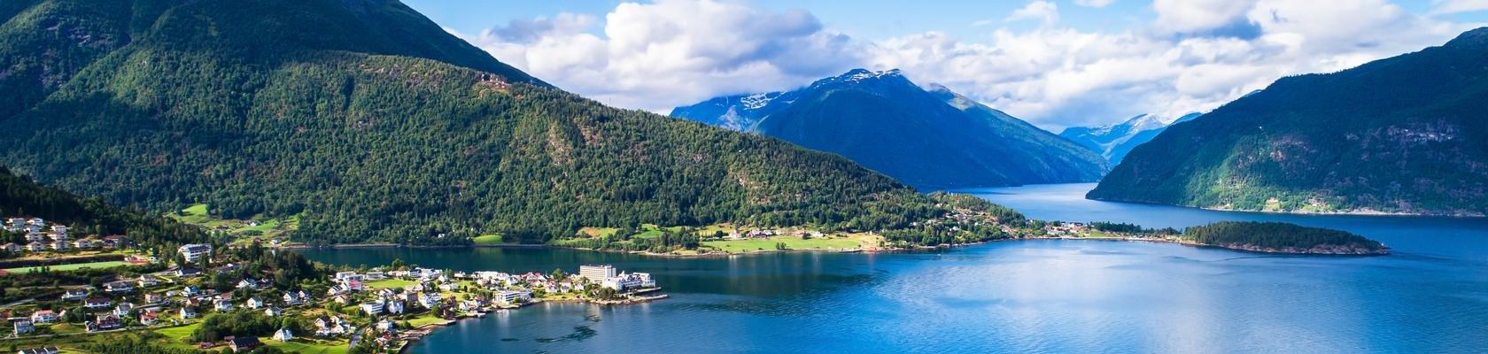 Balestrand aan het Sognefjord