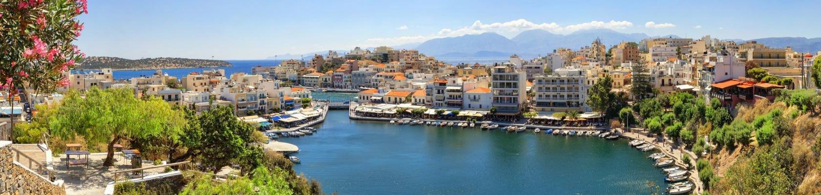 De haven van Agios Nikolaos