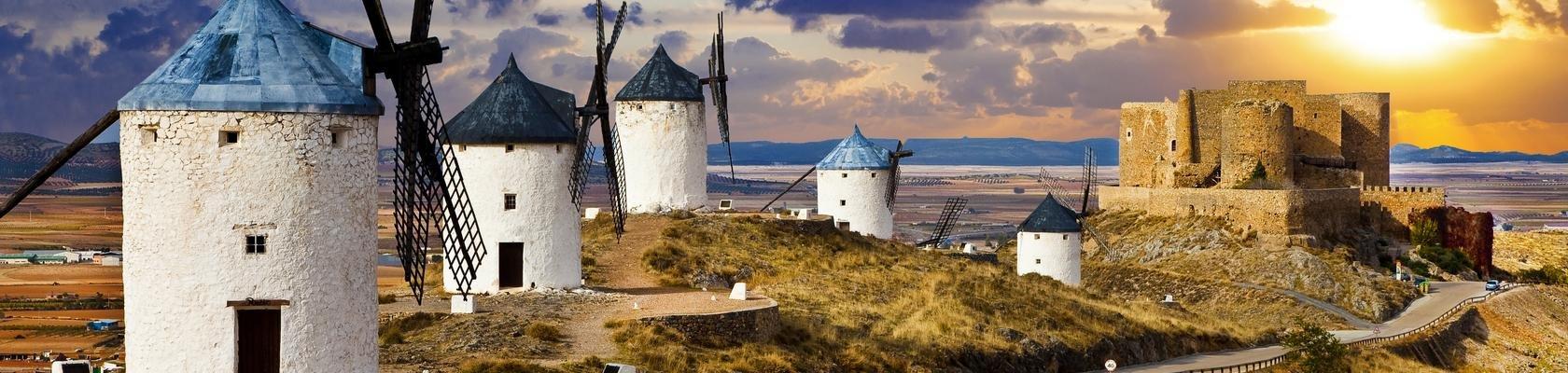 De windmolens uit het boek van Don Quichot