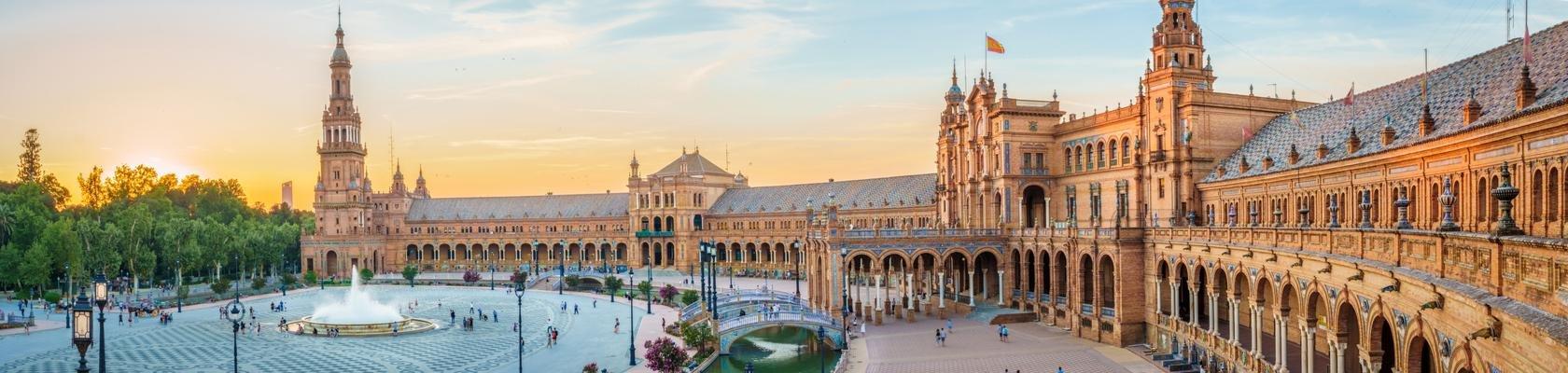 Het Plaza de España: Sevilla