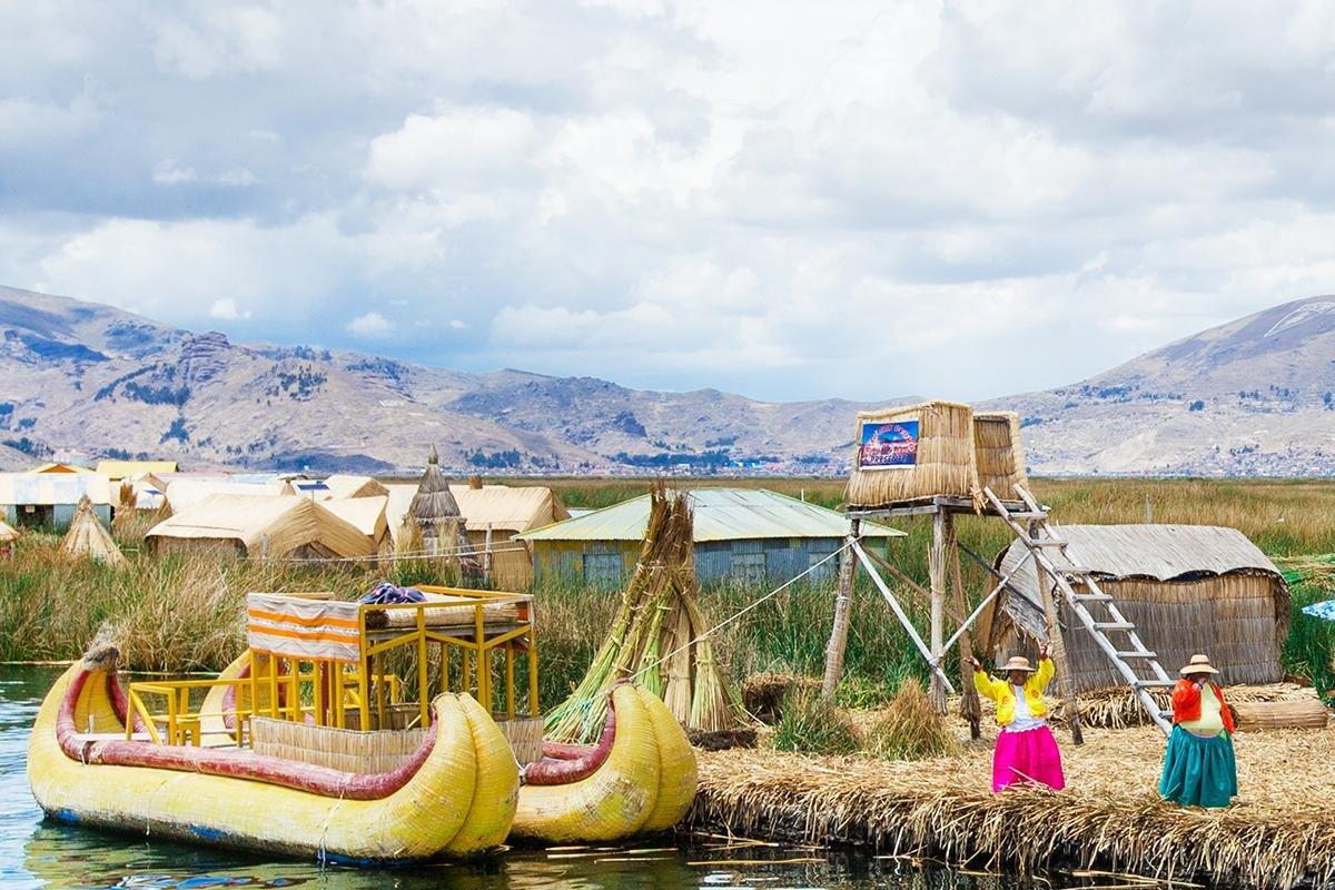 Uros-indianen (Titicacameer)